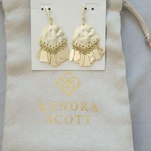 Kendra Scott gold chandalier earrings new with box